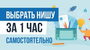 Выбрать нишу за 1 час самостоятельно Евгений Гришечкин